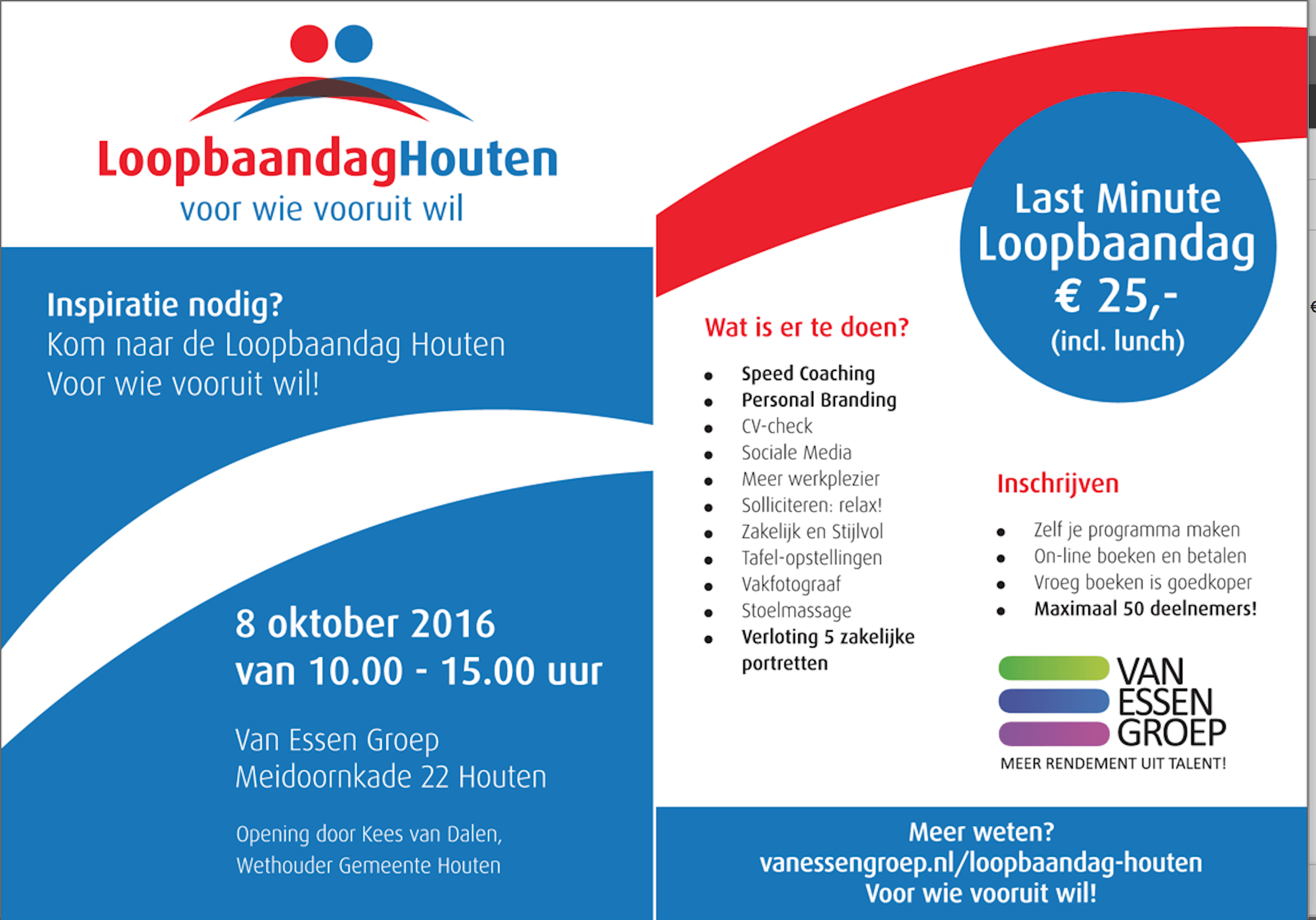 Loopbaandag Houten 8 oktober 2016 Van Essen Groep